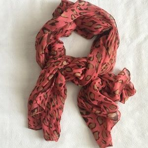 Accessories - Animal Print (Red/Brown) Scarf
